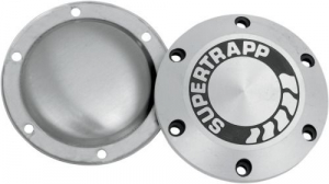 Supertrapp aluminium dichte eindkap 4 inch + afdekplaat