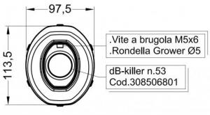 Leovince db-killer 308506801R nummer 53