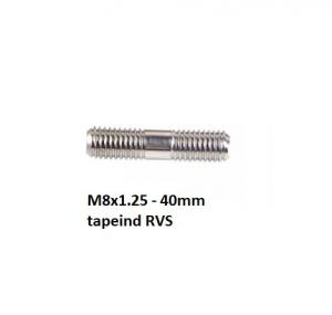Tapeind draadeind M8x40 mm RVS