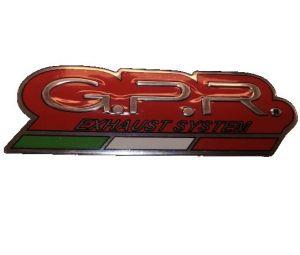GPR sticker rood hittebestendig logo 125x40 mm