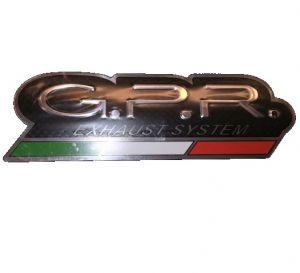 GPR sticker zwart hittebestendig logo 125x40 mm