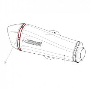 Akrapovic popnagelstrip / nietband P-TT64