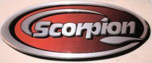 Scorpion uitlaat sticker bol 95x42 mm