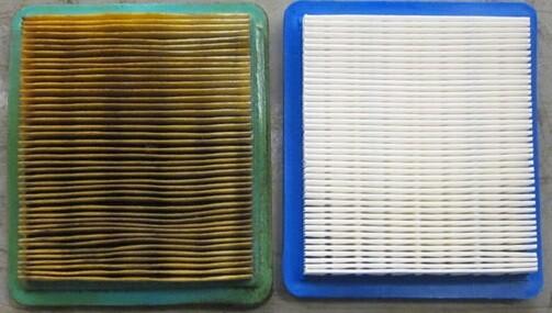 schoon luchtfilter vs vuil luchtfilter vervuild motor